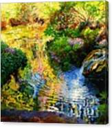 Ripples On A Quiet Pond Canvas Print