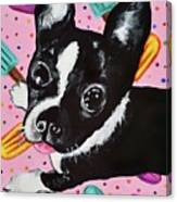 Popsicle Pup Canvas Print
