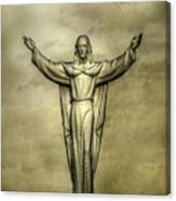 Risen Christ In Gold Canvas Print