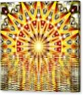 Rising Sun Mandala Canvas Print