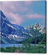 Rising Wolf Mountain And Two Medicine Lake Canvas Print