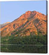 Rising Wolf Mountain At Dawn Canvas Print