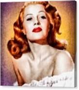 Rita Hayworth, Vintage Actress Canvas Print
