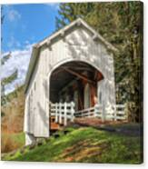 Ritner Creek Covered Bridge 0739 Canvas Print
