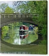 River At Harlow Mill Canvas Print