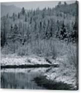 River Bend Winter Canvas Print