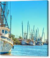 Darien Shrimp Boats Canvas Print