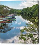 River Boats Docked Canvas Print