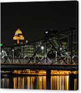 Ohio River Bridges And Louisville Skyline Canvas Print