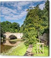River Coquet Flows Under Warkworth Bridge Canvas Print