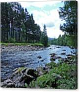 River Dee In Summer Canvas Print