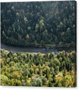 River Dunajec In Pieniny Mountains Canvas Print