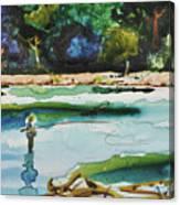 River Fishing Canvas Print