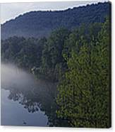 River Flowing In A Forest Canvas Print