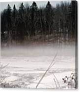 River Ice And Steam Canvas Print