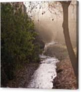 River In Afternoon Sunhaze  Canvas Print