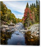 River In Fall Canvas Print
