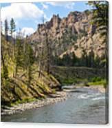 River In Shoshone Canvas Print