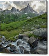 River In The French Alps Canvas Print