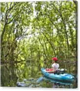 River Kayak Canvas Print