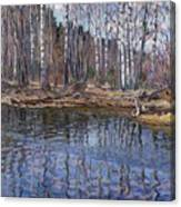 River Landscape Nikolai Petrovich Bogdanov-belsky Canvas Print