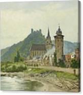 River Landscape Of The Rhine Canvas Print