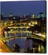 River Liffey Bridges, Dublin, Ireland Canvas Print