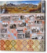 River Mural Autumn Panel Bottom Half Canvas Print