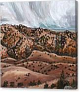 River Mural Autumn Panorama Canvas Print