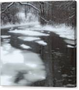 River Of Melting Ice Canvas Print