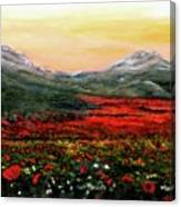River Of Poppies Canvas Print