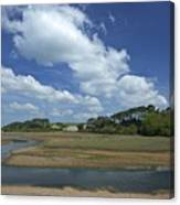 River Otter Estuary,  Budleigh Salterton, Devon, Southwest England, Uk Gb Canvas Print