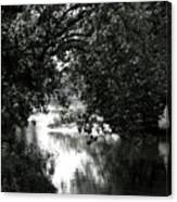 River Passage In Black And White Canvas Print