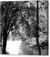 River Passage Through Trees Canvas Print