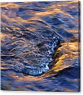 River Rapids At Sunset Canvas Print