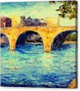 River Seine Bridge Canvas Print