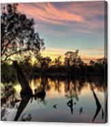 River Sunrise Canvas Print