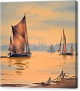 River Thames At Greenwich London Canvas Print