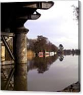 River Thames At Sandford. Canvas Print