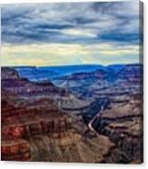 River Through The Canyon Canvas Print