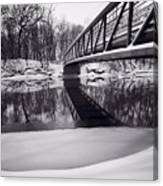 River View B And W Canvas Print