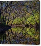 River Walk Reflections Canvas Print