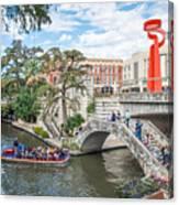 River Walk View San Antonio Canvas Print