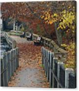 River Walkway Canvas Print