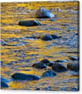 River Water And Rocks Canvas Print