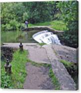 River Wye Weir Canvas Print