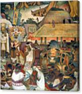 Rivera: Pre-columbian Life Canvas Print