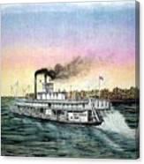 Riverboat Bald Eagle Canvas Print