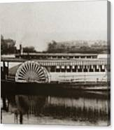 Riverboat  Mayflower Of Plymouth   Susquehanna River Near Wilkes Barre Pennsylvania Late 1800s Canvas Print