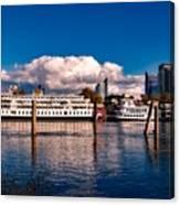 Riverboats Of Sacramento Canvas Print